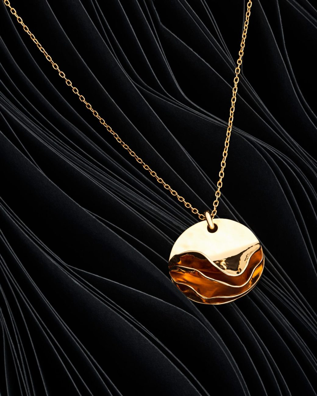gold necklace hand made